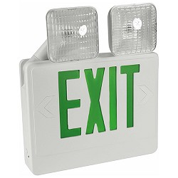 Orbit EECLA-W-G Emergency Light/Led Exit Sign Combo Unit With Battery Back-Up