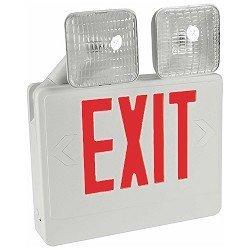 Orbit EECLA-W-R Emergency Light/Led Exit Sign Combo Unit With Battery Back-Up