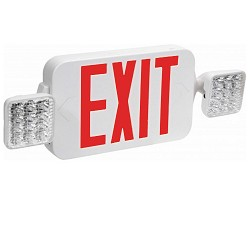 Orbit EECLM-LED-W-R Micro Led Emergency Light/Exit Sign Combination Unit With Battery Back-Up