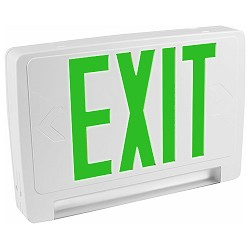 Orbit EECLP-LED-W-1-G Led Tube Emergency Light/Exit Sign Combo Unit With Battery Back-Up