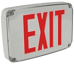 Orbit ESLN4M-GY-1-R-EB Micro Wet Location Led Exit Sign