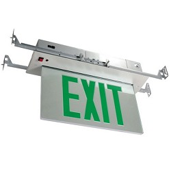 Orbit ESRE-A-1-G-EB Recessed Mount Edge-Lit Led Exit Sign