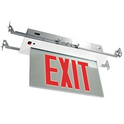 Orbit ESRE-W-1-R-EB Recessed Mount Edge-Lit Led Exit Sign