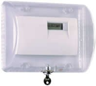 STI 9110 Thermostat Protector w/ Key Lock - Clear
