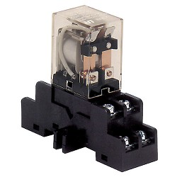 Altronix RAC120, Relay and Base, 120VAC Operation, DPDT Contacts Rated at 10 amp/220VAC or 28VDC