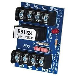 Altronix RB1224, Relay Module, 12VDC or 24VDC Operation, DPDT Contacts Rated at 5 amp
