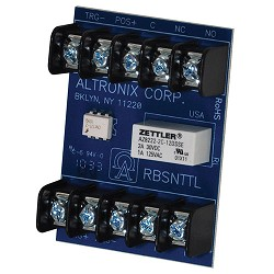 Altronix RBSNTTL, Sensitive Relay Module - 12VDC to 24VDC operation, 3VDC  to 24VDC isolated positive or negative trigger input