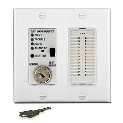 Air Products & Controls MSR-100RA/W, Remote with Sounder w/ White Double Gang Cover Plate