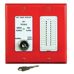 Air Products & Controls MSR-50RKA/R, Control w/ Sounder Assembly, Red Double Gang Plate