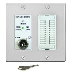 Air Products & Controls MSR-50RKA/W keyed Test and Reset w/Audible, White Double Gang Plate