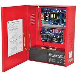 Altronix AL1002ULADA, NAC Power Extender, 2 Class A or 4 Class B Outputs, 24VDC @ 10A, 115VAC, Red BC400 Enclosure