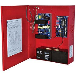 Altronix AL1002ULADAJ, NAC Power Extender, 2 Class A or 4 Class B Outputs, 24VDC @ 10A, 115VAC, Red BC600 Enclosure
