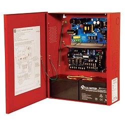 Altronix AL602ULADA, NAC Power Extender, 2 Class A or 4 Class B Outputs, 24VDC @ 6.5A, 115VAC, Red BC400 Enclosure
