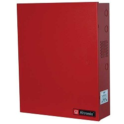 Altronix AL642ULADA, NAC Power Extender, 4 Class A or 4 Class B Outputs, 24VDC @ 6.5A, 115VAC, Red BC400 Enclosure