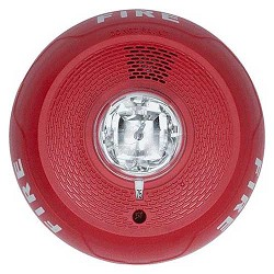 System Sensor PC2RL L-Series 2-Wire Ceiling Mount Horn Strobe Multi-Candela, Red