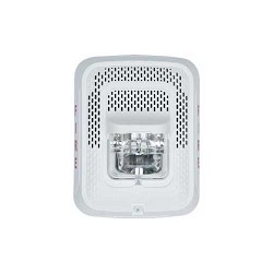 System Sensor SPSWL-CLR-ALERT L-Series, Speaker Strobe, White, Wall Mount with Clear Lens