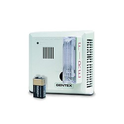 Gentex 7139CS-C, 120V AC P/E Smoke with Strobe & Temporal 3 Sounder, Contacts, 9V Backup, Ceiling