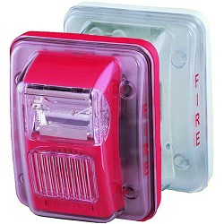 Gentex GOELP-R, Low Profile Outdoor Enclosure and Back-Box, Red