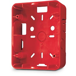 Gentex GSB-R, Surface Back-Box for GE Series, Red