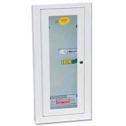 Kidde KN KF7008B, Fire Extinguisher Wall Cabinet, 5 lb. Semi Recessed, Lock