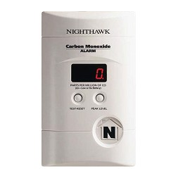 Kidde KN COPP-3 Nighthawk, Plug-in CO Alarm, AC/DC Plug-in - 9V Battery Backup - Digital Display - Peak Level