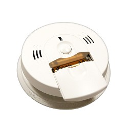 Kidde KN COSM-IBA, AC/DC Wire-In Intelligent Ion Smoke/CO Alarm, Front Load Battery, Voice