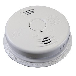 Kidde KN i12010SCO, AC/DC Wire-In Intelligent Ion. Smoke/CO Alarm,10 Year Sealed Lithium Battery, Voice