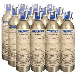 Macurco CM E1-FTGLOT, Aerosol CO Field Test Gas, Case of 12