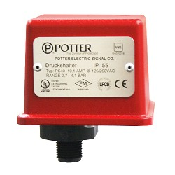 Potter Electric PS402, Pressure Supervisory Pressure Switch