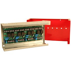 MR-204/C/R, Multi-Voltage Control Relay, 10A, DPDT, 4 Position, Red Enclosure