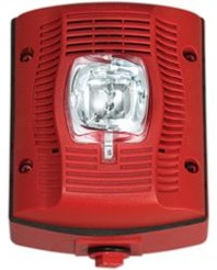 System Sensor SPSRK-P, 12/24V Selectable-Candela Unmarked Outdoor Speaker Strobe, Red