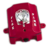 System Sensor SRK Outdoor Strobe, Multi-Candela, Red