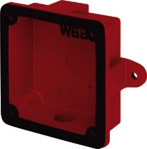 System Sensor WBB, Weatherproof Backbox for SSM and SSV Series