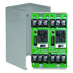 Space Age SSU MR-602/C, Multi-Voltage Series Relay w/Manual Override, 7-10A, SPDT, 2 Position