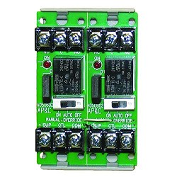Space Age SSU MR-602/T, Multi-Voltage Series Relay w/Manual Override, 7-10A, SPDT, 2 Position