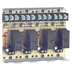 Space Age SSU MR-814/T, 10A Fused Relay, 10A, SPDT, 4 Position, Track-Mount Enclosure
