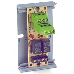 MR-821/T, Compact Form Relay, 2A, Dual SPDT, 1 Position, Track-Mount