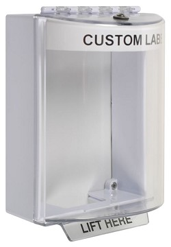 STI-13210CW, Polycarbonate Cover with White Housing, Custom Label, Surface Mount