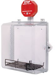 STI 7533AED AED Cabinet w/ Backplate, Wire Shelf, Siren Alarm, Thumb Lock