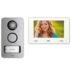 Urmet 1722-85, 1 Family, 2 Wire Handsfree 7 Color Video Kit with Mikra DoorBell/Camera