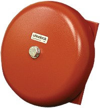 Wheelock Series 43T 6-in AC Bell, 115VAC, Red