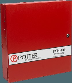 Potter PSN-106 10A Conventional Power Supply with 6 Outputs - Red