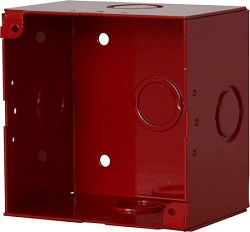 Space Age Electronics SSU09037, 4 x 4 x 2.75-in Electrical Box w/Tabs, Red Finish