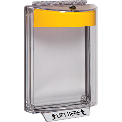 STI-13020NY, Polycarbonate Cover with Yellow Housing, Horn, Flush Mount