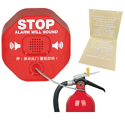 STI 6200R Fire Extinguisher Theft Stopper w/12V, Remote Powered Horn